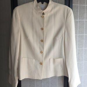 Classic Off-White 5 Button Blazer